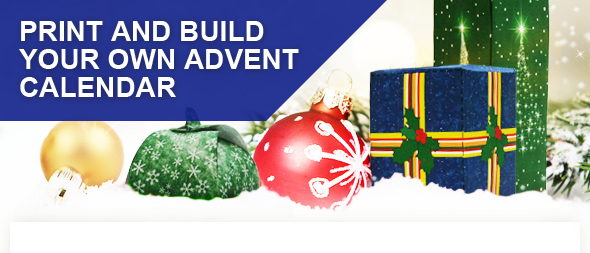 Print and build your own advent calendar