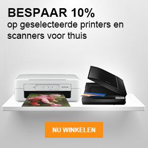 Bespaar 10% op geselecteerde printers en scanners voor thuis - Nu winkelen